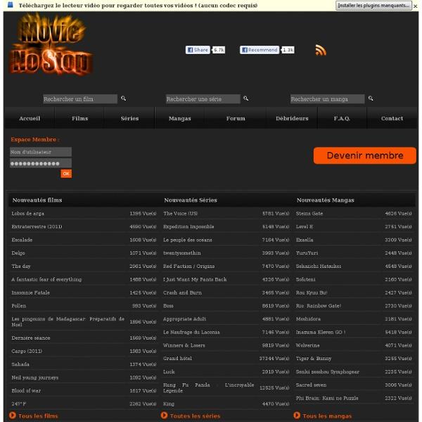 Films en streaming - Series en Streaming - Animes en Streaming - MovieNoStop.com