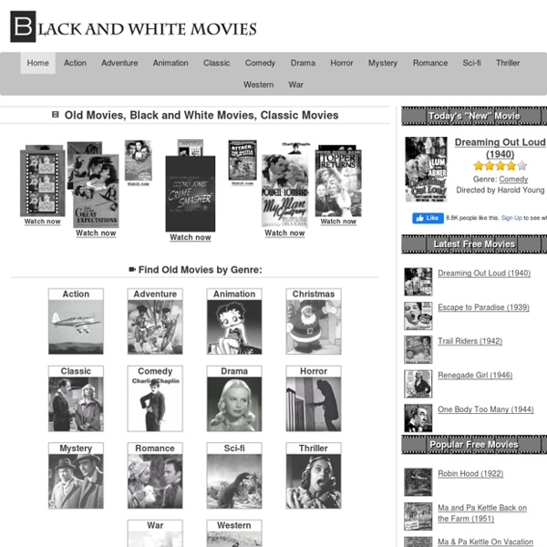 Old Movies, 400+ Black & White Movies, Free @ BnWMovies