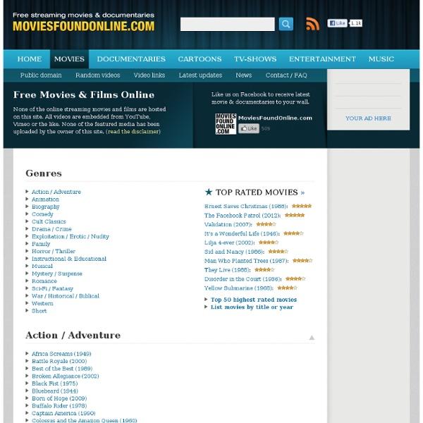 Watch Free Movies & Films Online - Movies Found Online