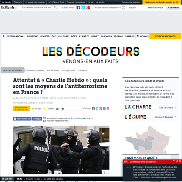 Quels sont les moyens de l'antiterrorisme en France ?