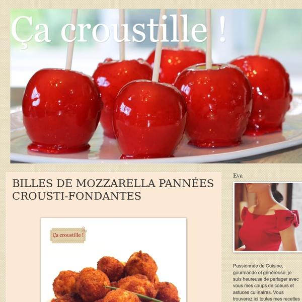 BILLES DE MOZZARELLA PANNÉES CROUSTI-FONDANTES