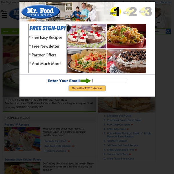 MrFood.com: Complete Collection Of Free Cookbooks