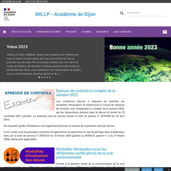 Mathématiques & Sciences - LP - Académie de Dijon
