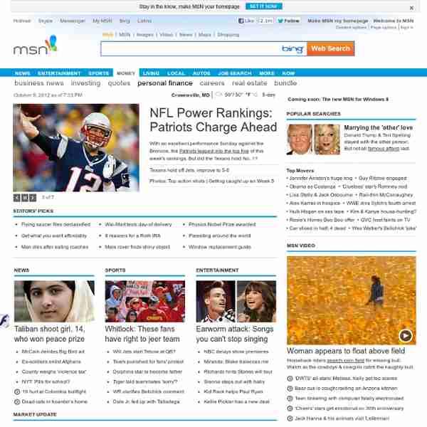 MSN : Hotmail, Messenger, Bing, Actualité et Sport