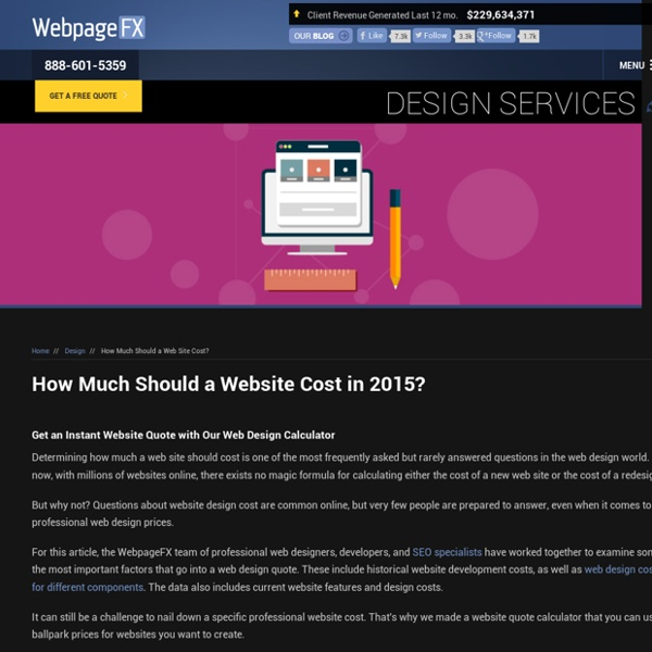 How Much Should A Website Cost in 2015? | Pearltrees