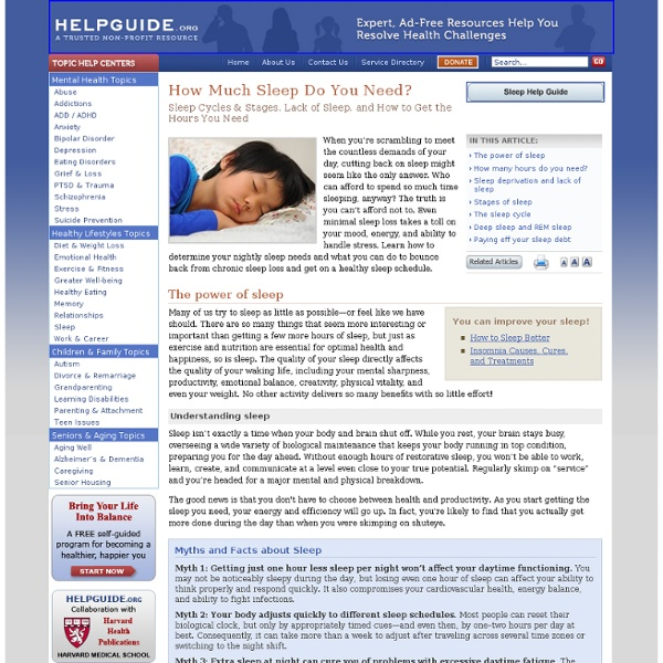 How Much Sleep Do You Need? Sleep Cycles & Stages, Lack of Sleep & Getting the Hours You Need
