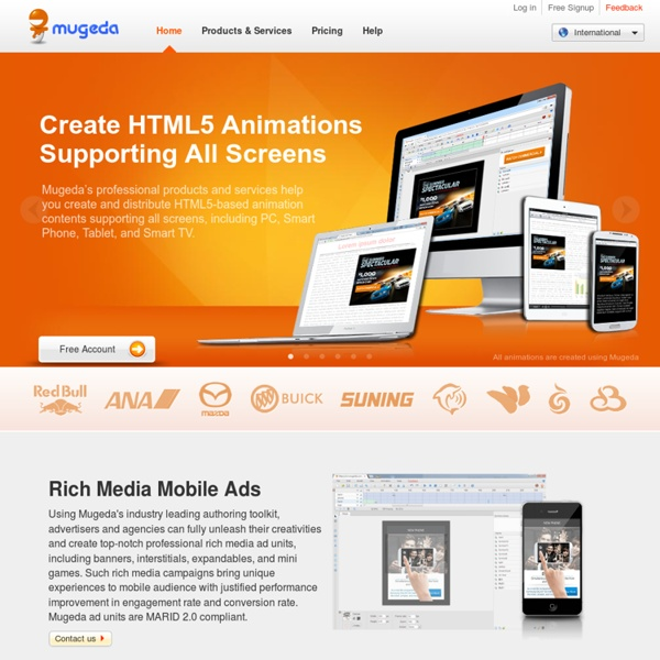 Mugeda - Cloud Based HTML5 Animation Platform