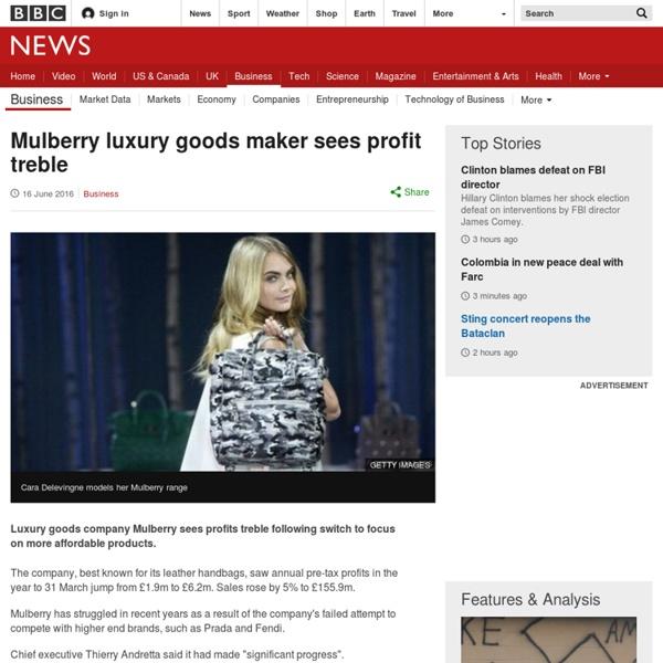 Mulberry luxury goods maker sees profit treble