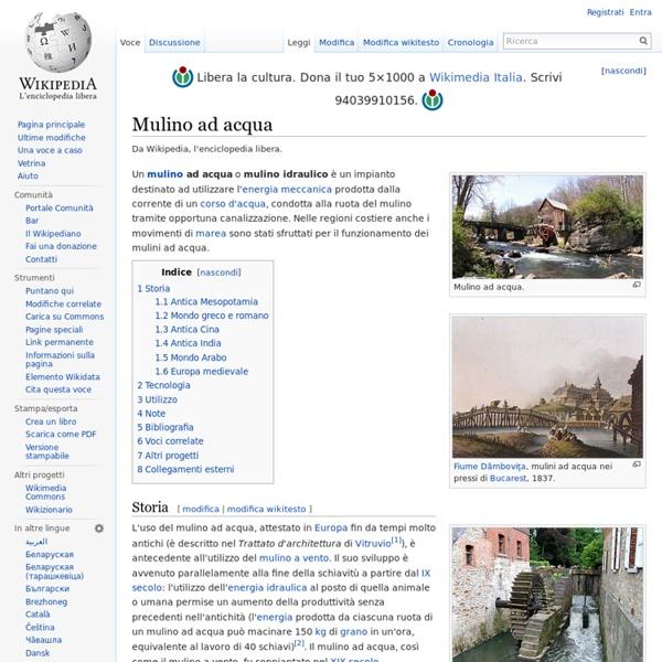 Mulino ad acqua(wikipedia)