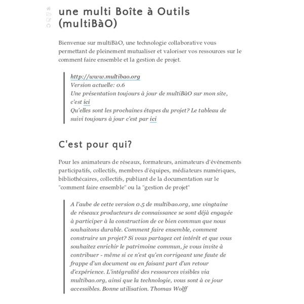 MultiBàO, une multi Boîte à Outils