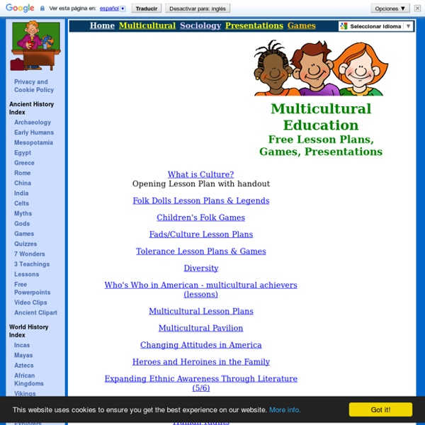 Multicultural Lesson Plans & Activities for Teachers, Games for Kids