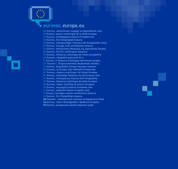 Eurovoc, the EU's multilingual thesaurus— choose your language