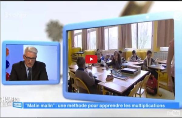 La méthode Multimalin (tables de multiplication) sur france 3