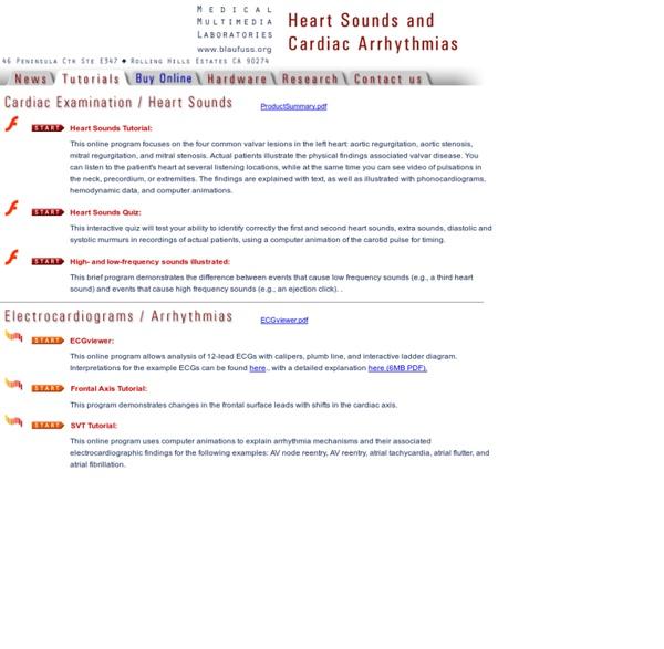 Blaufuss Multimedia - Heart Sounds and Cardiac Arrhythmias