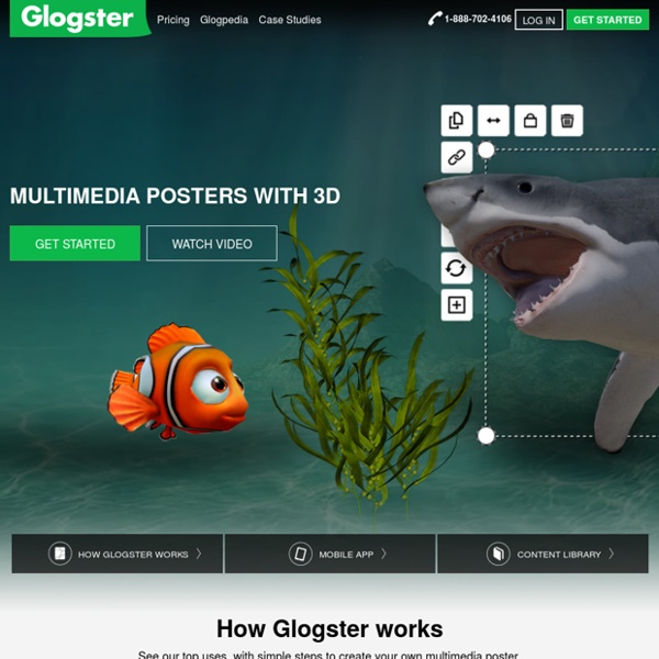 Glogster EDU: A complete educational solution for digital and mobile teaching and learning.