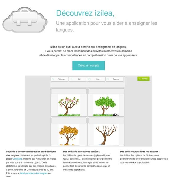 Izilea, un outil-auteur pour les enseignants en langues