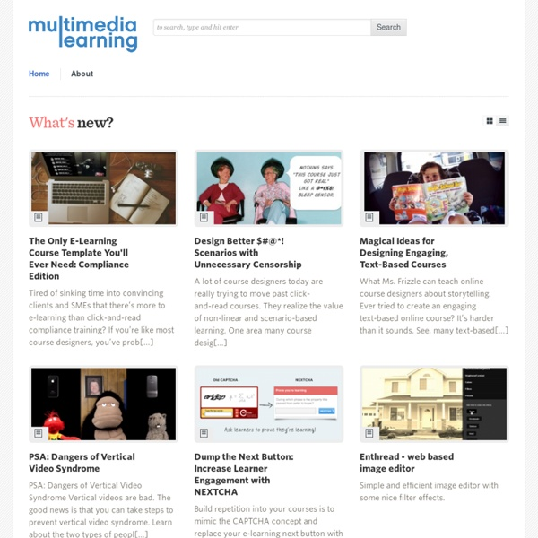 Multimedia Learning -