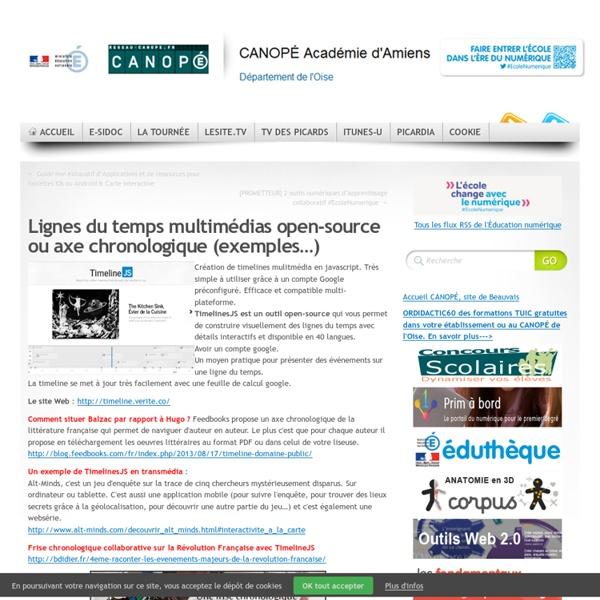 CRDP d'Amiens - Lignes du temps multimédias open-source