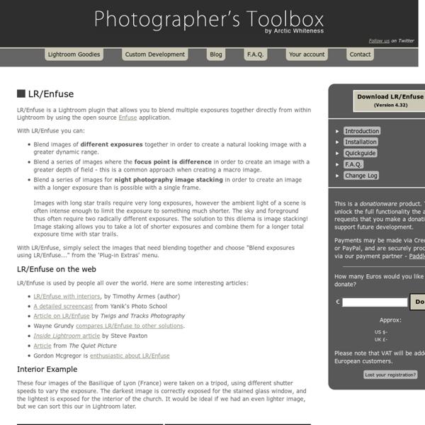 LR/Enfuse - Blend Multiple Exposures Together in Adobe Lightroom
