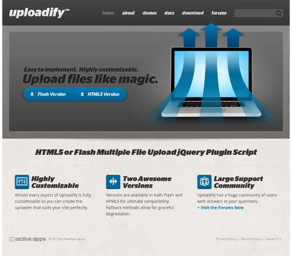 JQuery File Upload Plugin Script - Uploadify