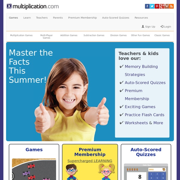 Free Multiplication Games, Activities, & Math Resources