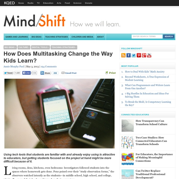 How Does Multitasking Change the Way Kids Learn?