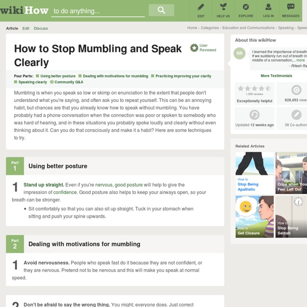 How to Stop Mumbling and Speak Clearly: 13 steps