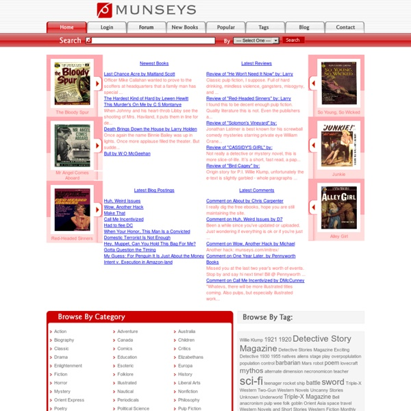 Munseys : Over 30,000 rare and hard to find titles in 10 formats!