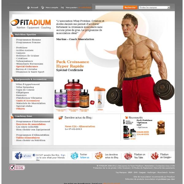 Musculation : Produits, appareils, accessoires et coaching musculation