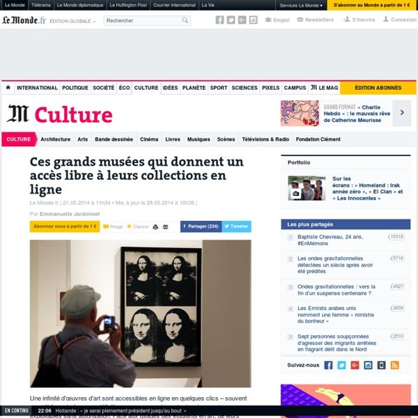 Ces musées qui donnent accès à leurs collections en ligne