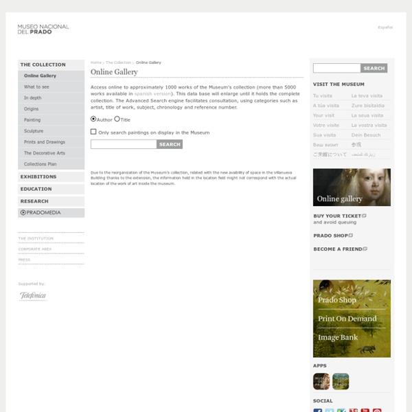 Museo del Prado / Online Gallery