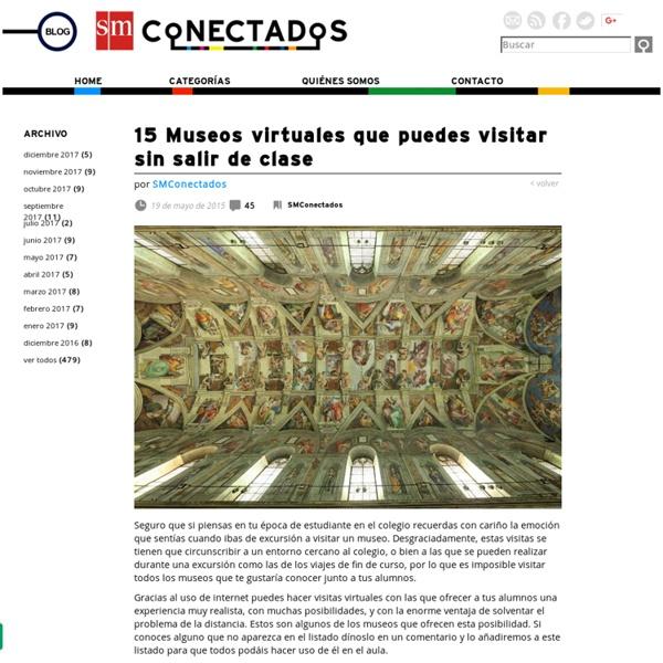 15 Museos virtuales que puedes visitar sin salir de clase
