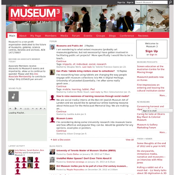 Museum 3 - what will the museum of the future be like?