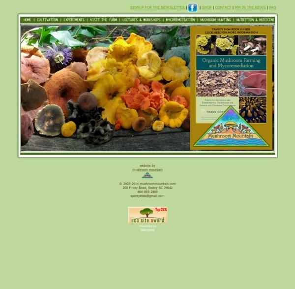Mushroom Mountain - Quality Mushroom Spawn and Supplies, South Carolina