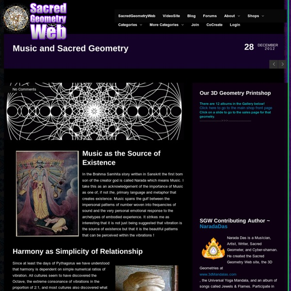 Music and Sacred Geometry