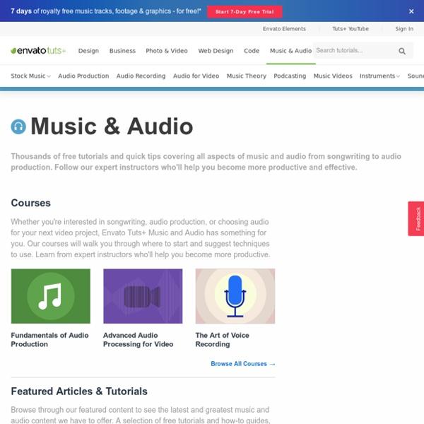 Tuts+ Free Music & Audio Tutorials