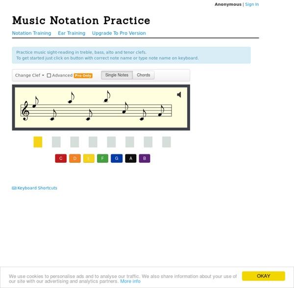 Music Notation Training