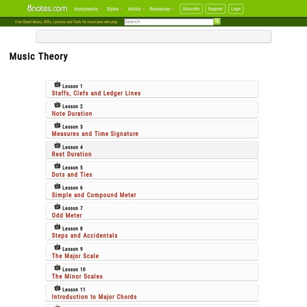 Music Theory On 8notes Pearltrees
