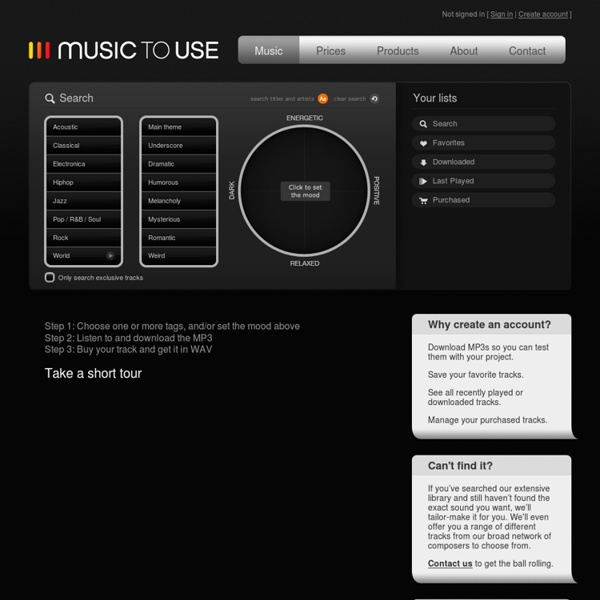 Music to use » Search