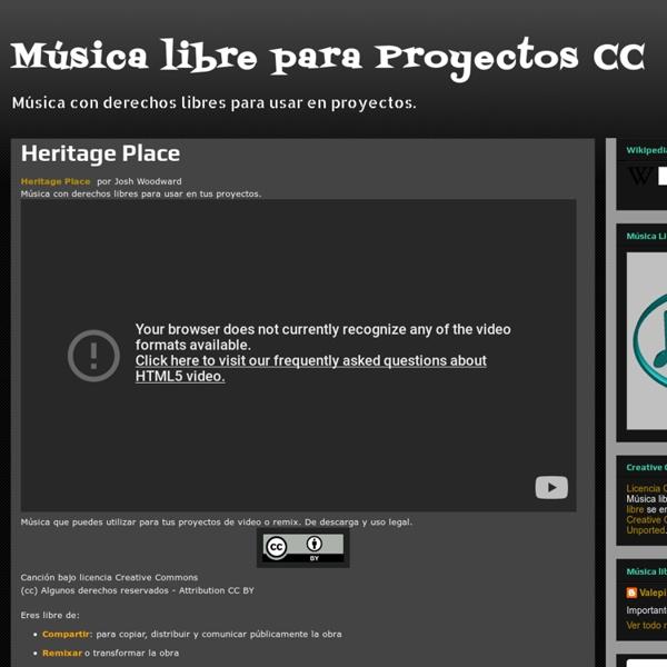 Música libre para Proyectos CC