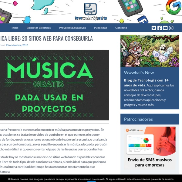 Música libre: 20 sitios web para conseguirla