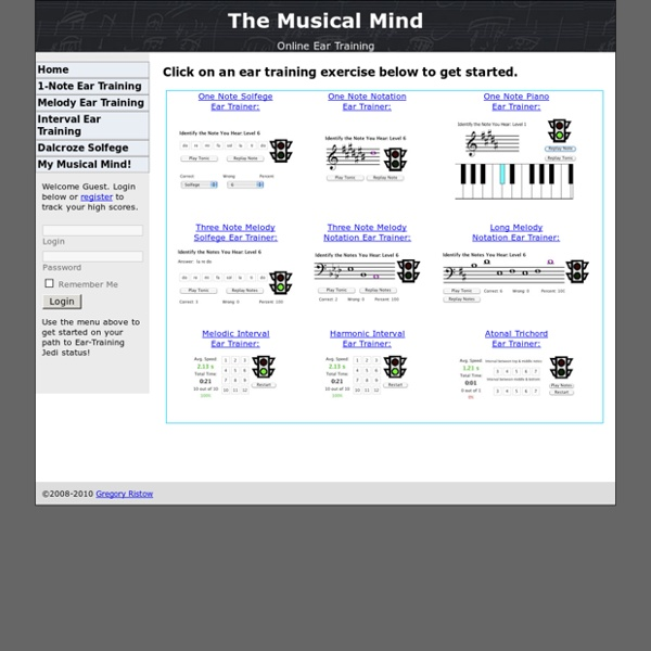 MusicalMind.org Ear Training Online