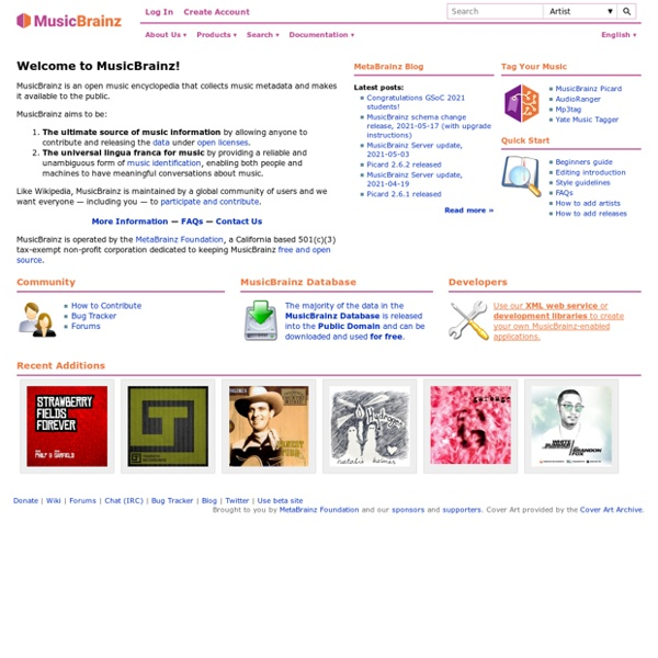 MusicBrainz - The Open Music Encyclopedia