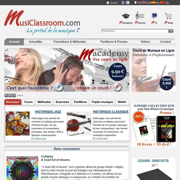 Le portail de la musique - Formation, méthodes et cours en ligne gratuit - Piano et guitare