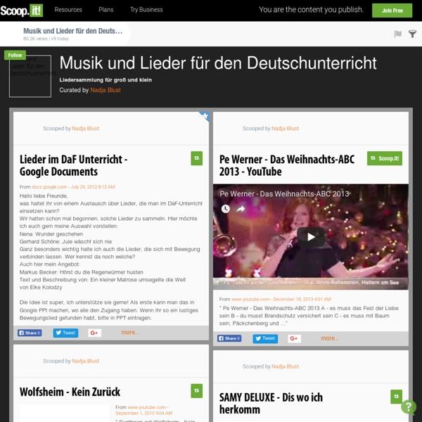 Musik und Lieder für den Deutschunterricht