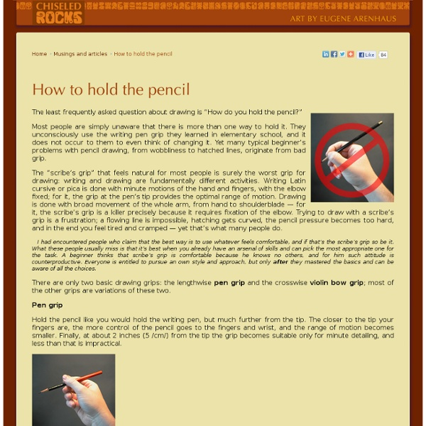 how to hold a properly pencil