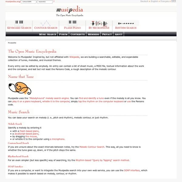 Musipedia: Musipedia Melody Search Engine