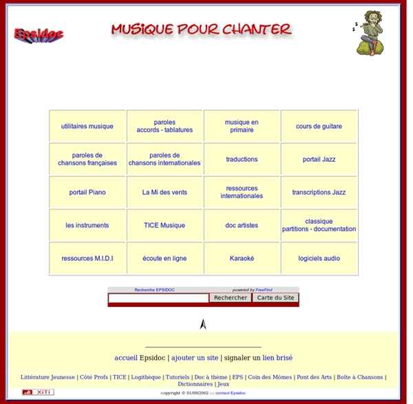 Musique pour chanter, paroles