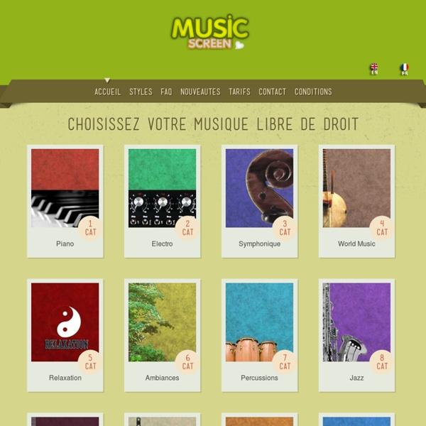 Musique libre de droit - Music Screen