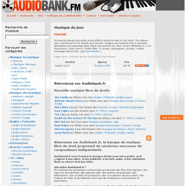 Musique libre de droits - audiobank.fr